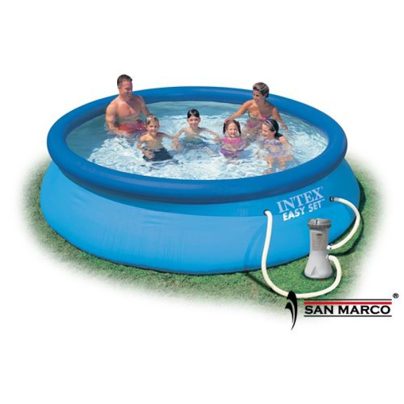 Piscina fuori terra rotonda easy set intex 366x76 cm san for Piscina fuori terra oasi
