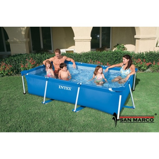 Piscina intex frame 366x122 esclusiva san marco san marco for Tappeto per piscina intex