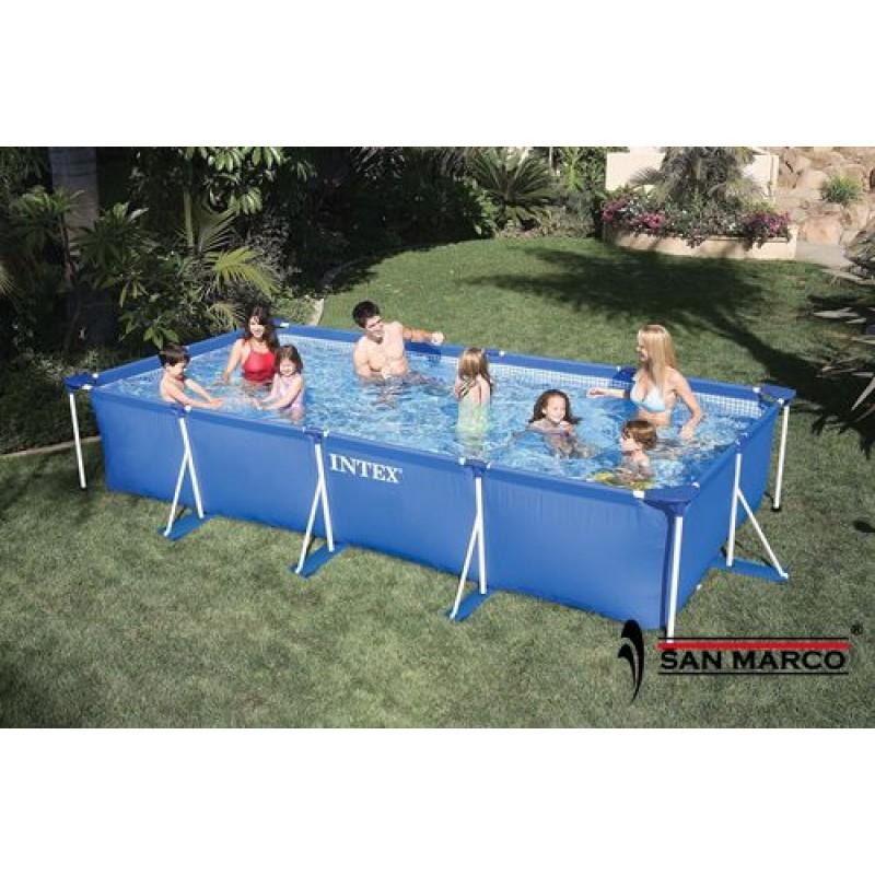 piscina fuori terra intex frame 450x220x84 cm 28273 san