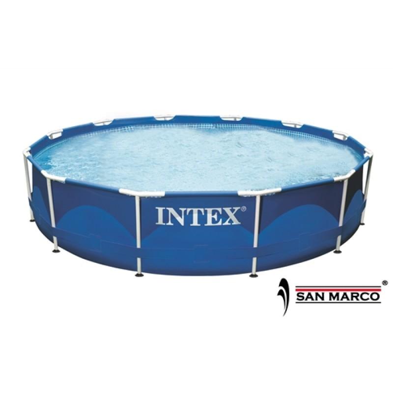 Piscina intex frame rotonda 366x76 cm san marco for Accessori piscine intex fuori terra