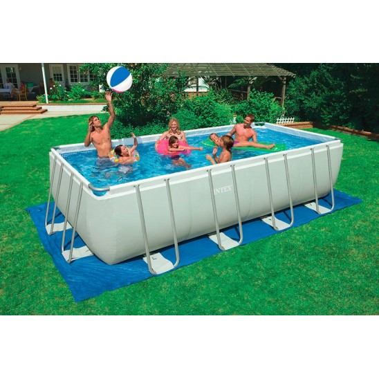 Piscina fuori terra intex ultra frame 549x274x132 cm san for Tappeto per piscina intex