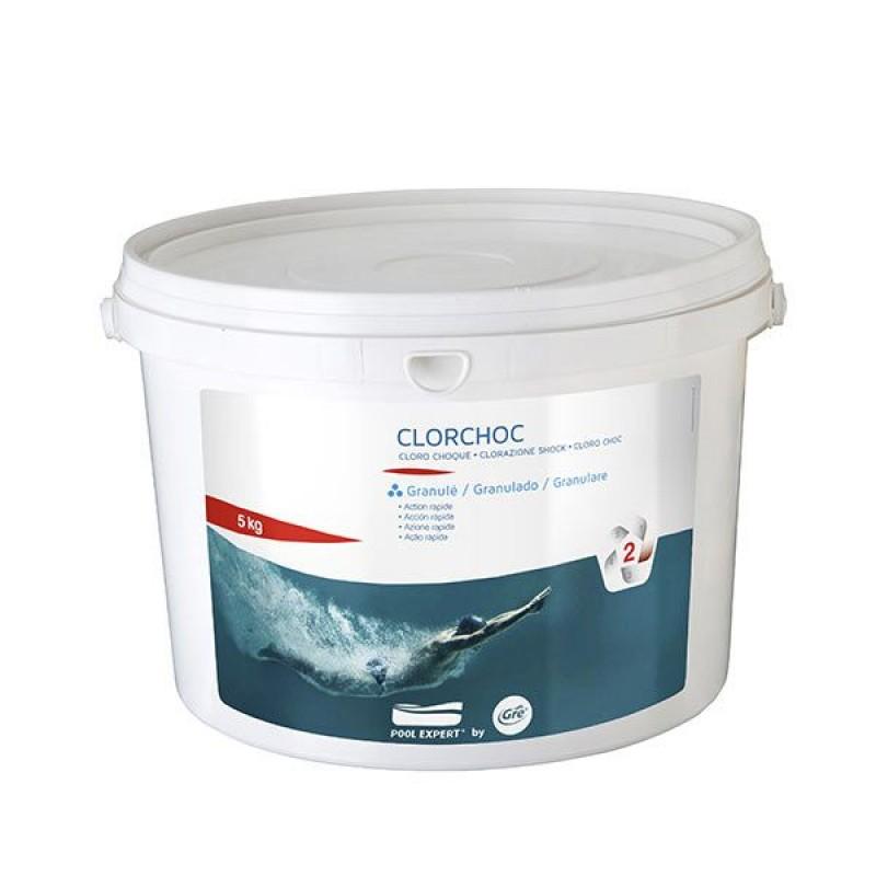 Dicloro granulare gre per piscine fusto da 5 kg san marco for Cloro per piscine