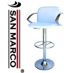 2 Sgabelli bar armchair in ecopelle bianca