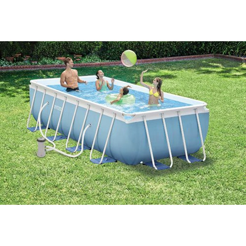 Piscina intex 28316 frame 400x200 cm san marco for Piscine hors sol bois 4x2