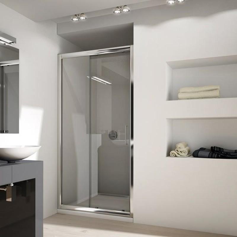 Porta cabina doccia con anta fissa e scorrevole san marco - Porta scorrevole per doccia ...