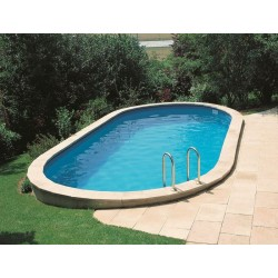 Piscina interrata ovale 730 x 375 cm