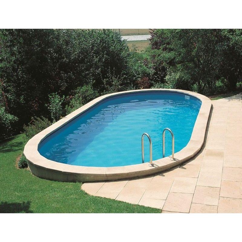 Piscina interrata ovale in acciaio 730 x 375 cm san marco - Prezzo piscina interrata ...