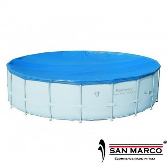 Telo di copertura piscina rotonda bestway 549 cm san marco - Telo copertura piscina ...