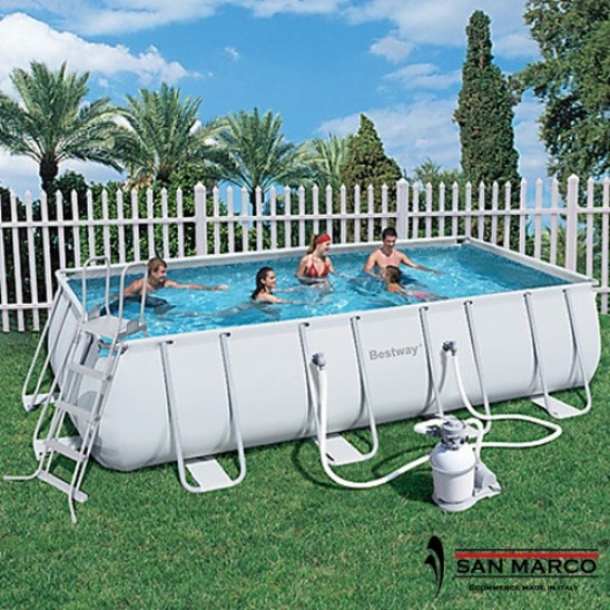 Piscina fuori terra bestway frame 412x201x122 cm san marco for Piscine fuori terra best way