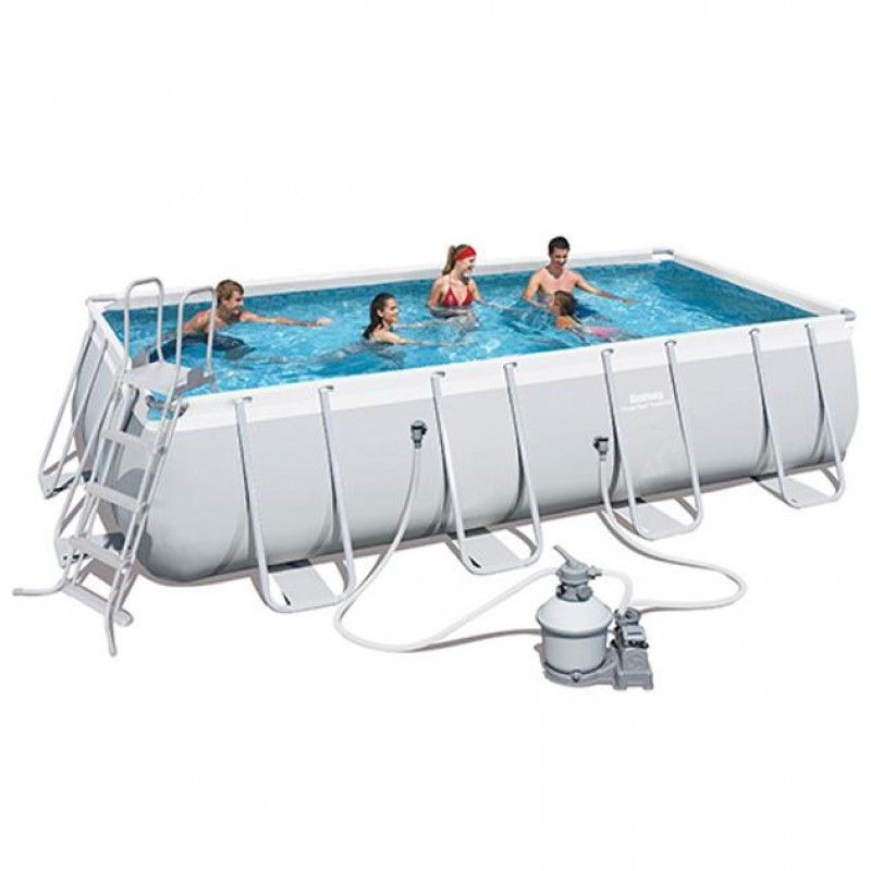Piscina fuori terra frame 549x274x122cm bestway 56466 for Piscine fuori terra best way