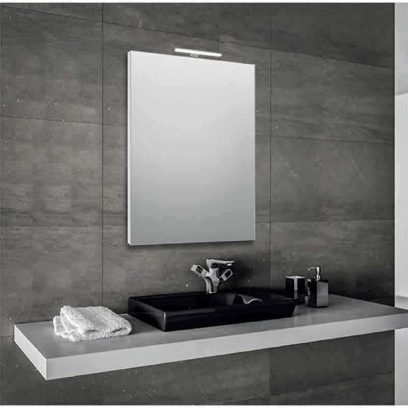 Specchio bagno 60x80 cm con lampada led san marco - Lampade per specchi bagno ...