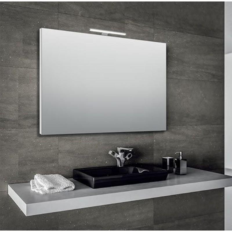 Specchio bagno 100x70 cm con lampada led san marco for Specchio bagno led integrato