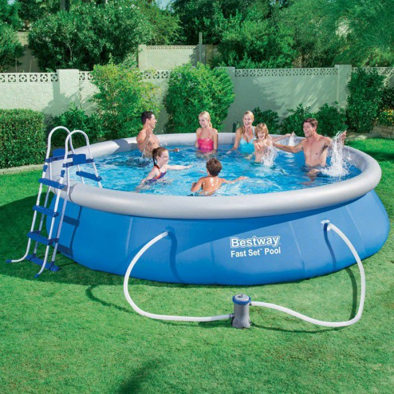 Piscina bestway autoportante rotonda 457x91cm san marco for Piscina autoportante