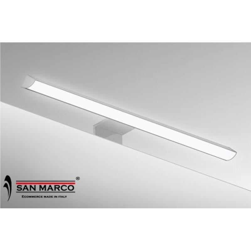 Faretto per specchio con lampada a led da 30 cm san marco - Lampada bagno specchio ...