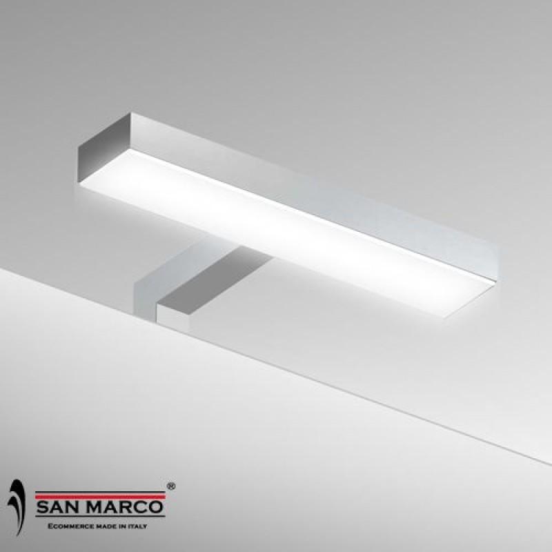 Faretto per specchio con lampada a led da 20 cm san marco for Specchio bagno brico