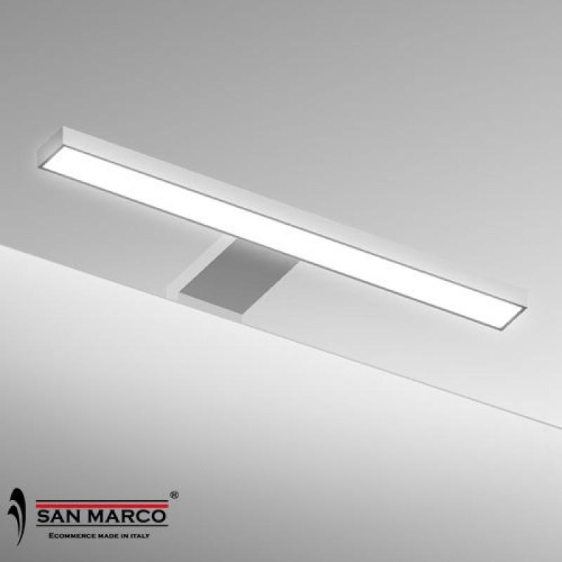 Faretto per specchio con lampada a led da 30 cm san marco - Lampada led per specchio bagno ...