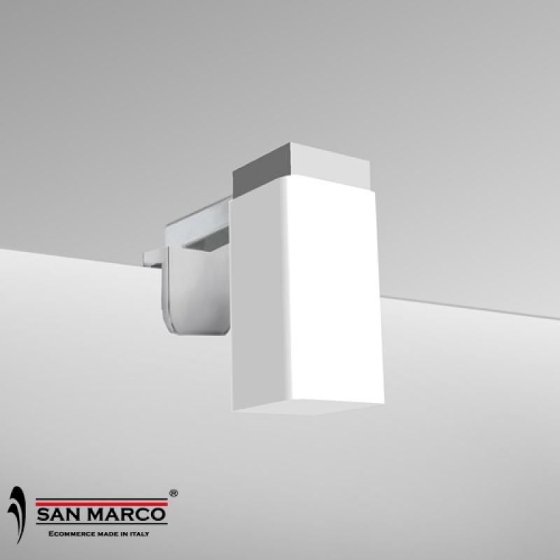 Faretto per specchio con lampada alogena inclusa san marco - Lampada specchio bagno ...