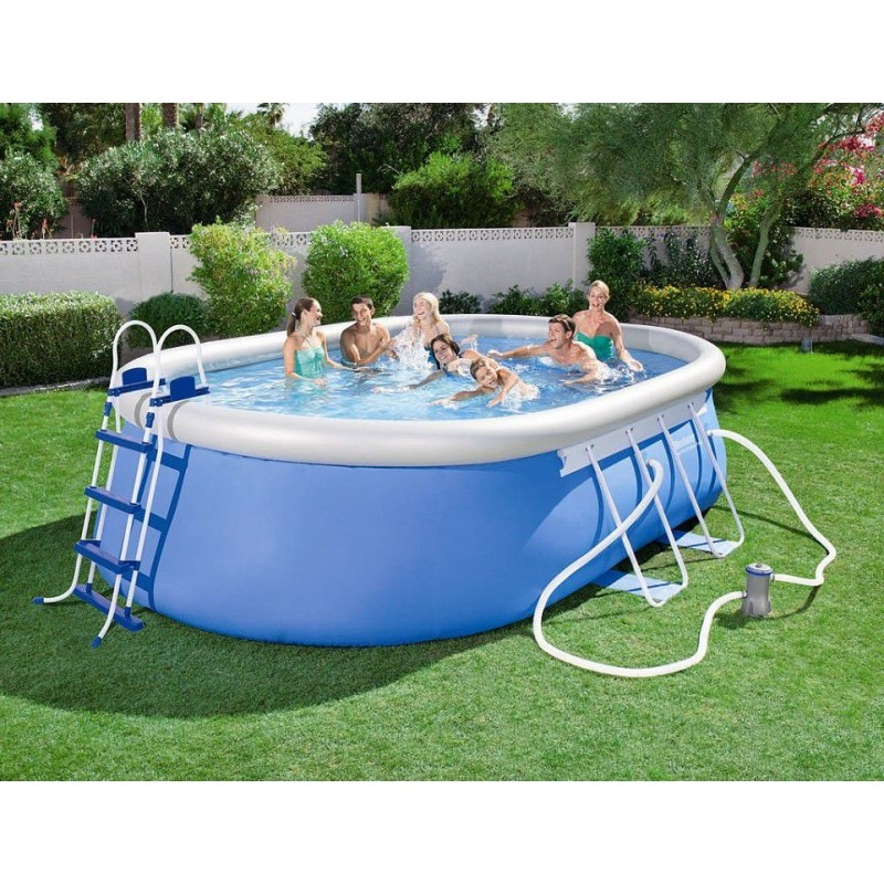 Piscina fuori terra bestway ovale 488x305x107 cm san marco for Piscine fuori terra best way