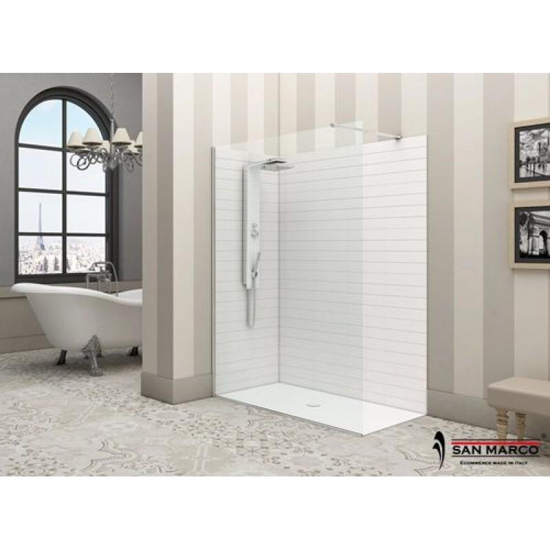 Box doccia a parete fissa minimal ferbox san marco - Box doccia design minimale ...
