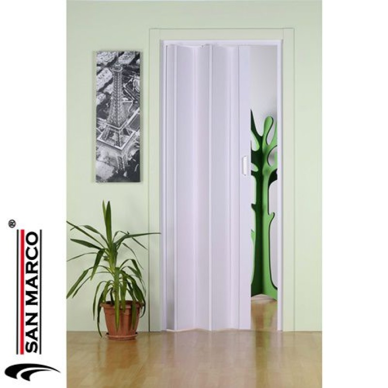 Porta a soffietto da interno forte mod monica san marco - Montare una porta a soffietto ...