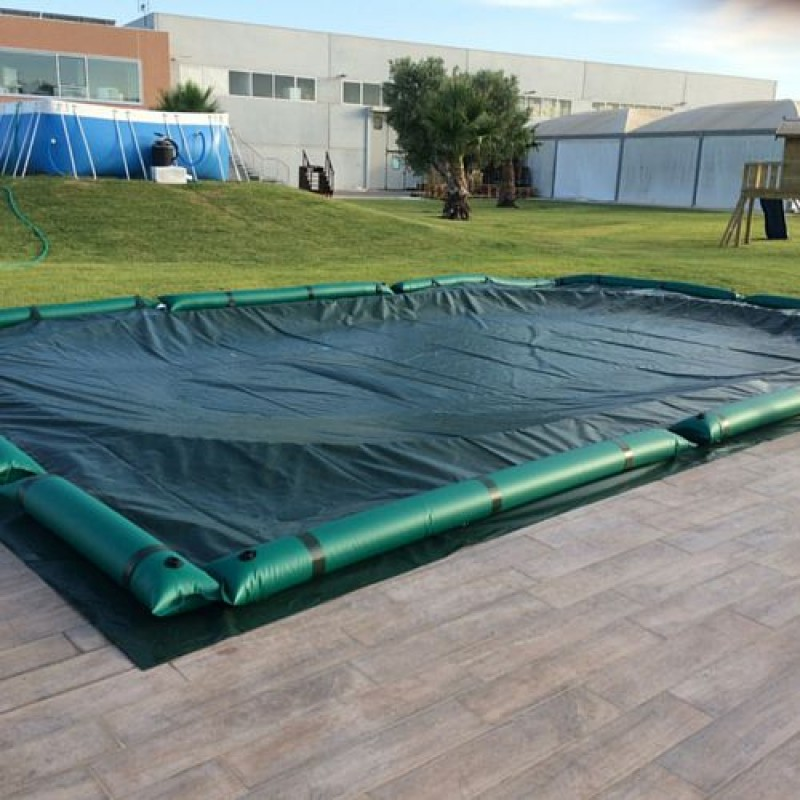Telo invernale per piscina interrata 500 x 300cm san marco - Telo copertura piscina ...