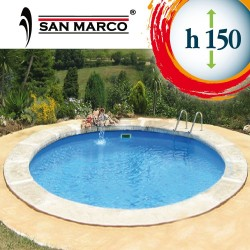 Piscina interrata rotonda 500x150cm accessoriata