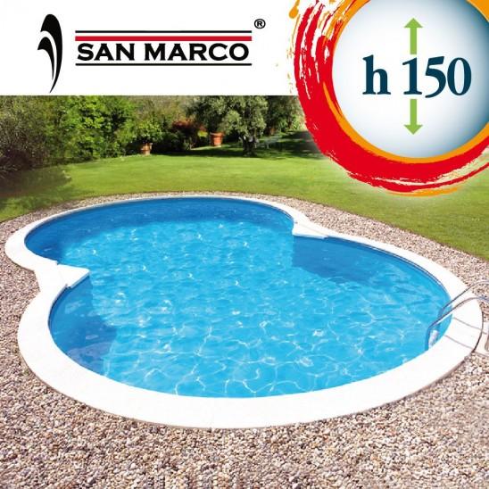 Piscina interrata a forma di otto 920x600x150 cm san marco - Piscina interrata prezzo ...