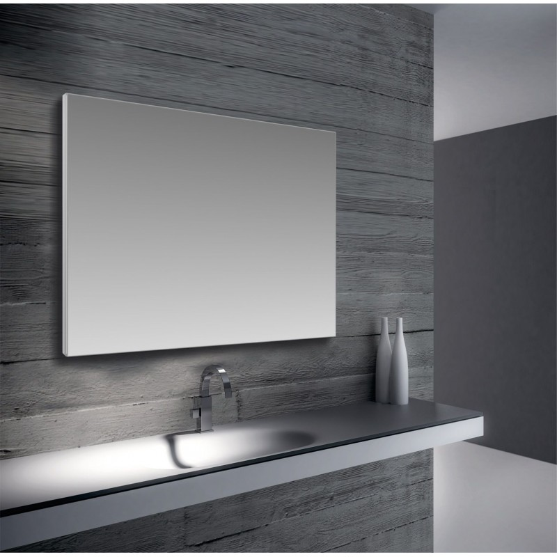 Specchio con cornice in alluminio san marco - Altezza specchio ...