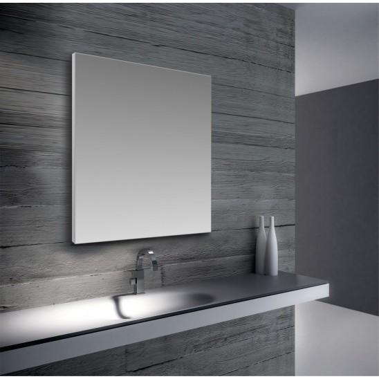 Specchio con cornice in alluminio san marco for Specchio bagno profilo alluminio
