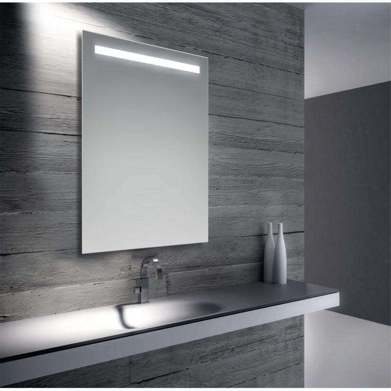 Specchio da bagno retroilluminato a led 70x50 cm san marco - Specchio x bagno ...