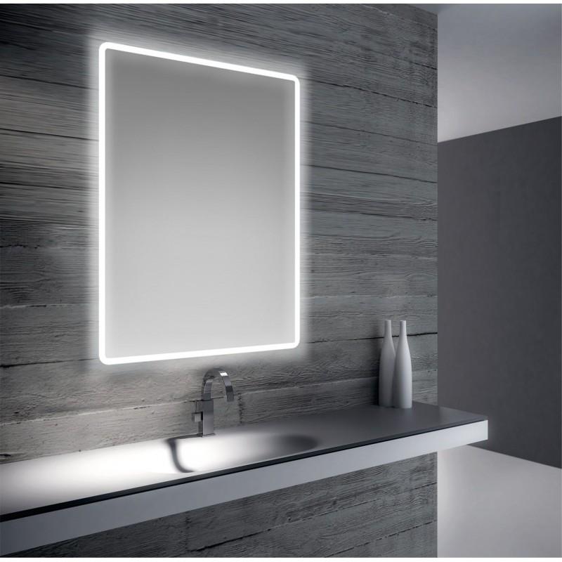 Specchio da bagno retroilluminazione led 80x60 san marco - Specchio retroilluminato bagno ...