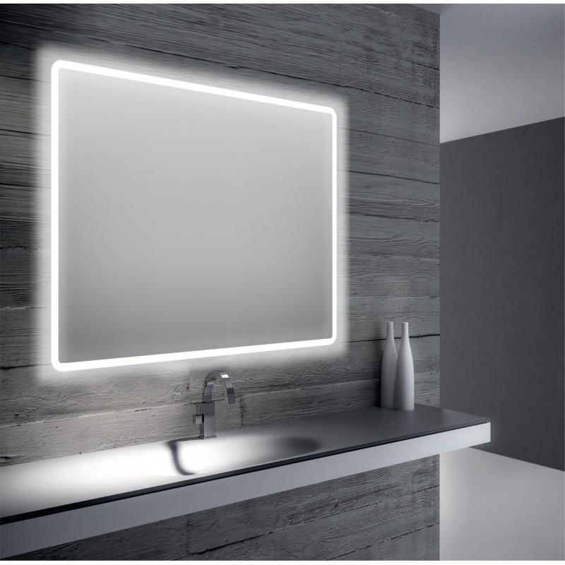 Specchio Da Bagno Retroilluminato A Led 90x75 San Marco