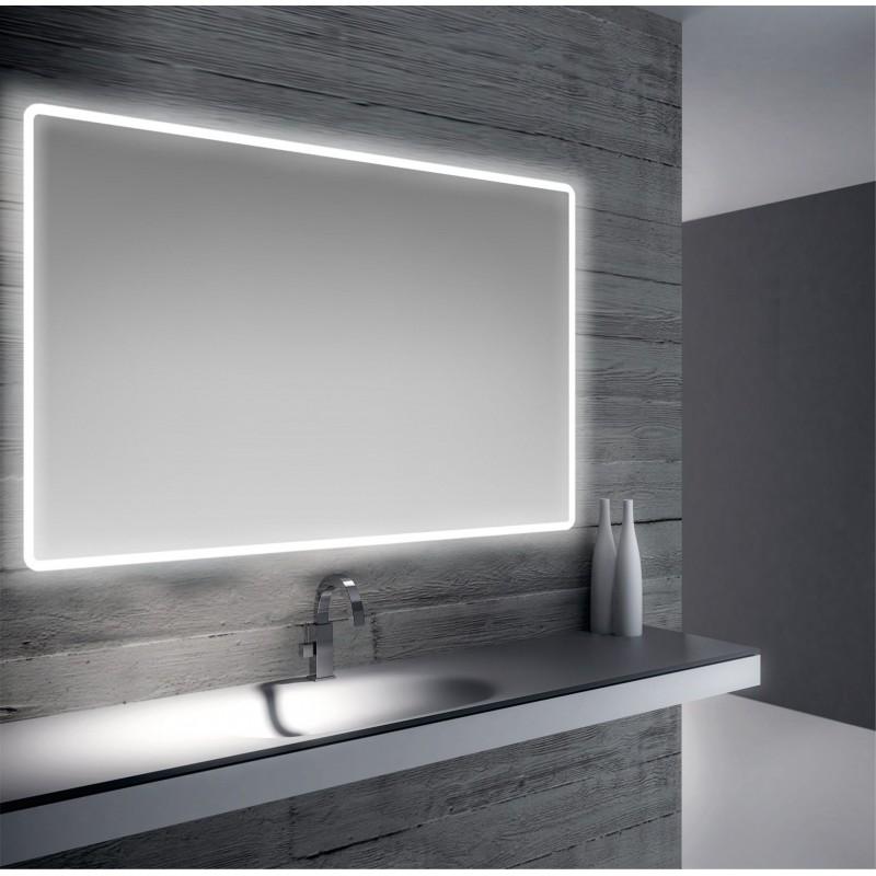 specchio da bagno retroilluminato led 110x70 cm san marco