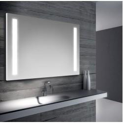 Specchio da bagno retroilluimnato a led con doppia strip 100x70 cm