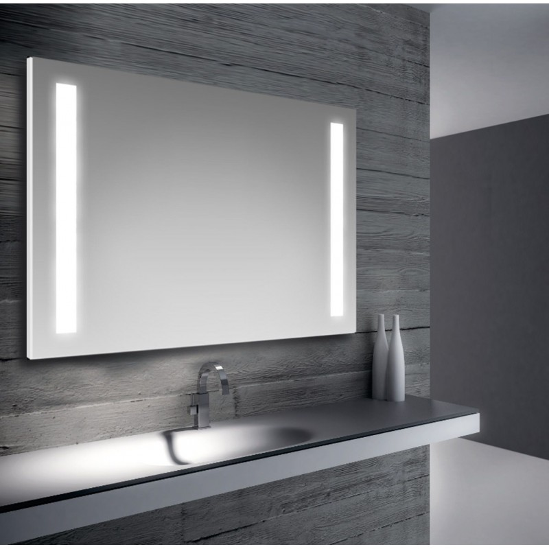 Specchio da bagno retroilluimnato led 100x70 cm san marco for Specchio bagno brico