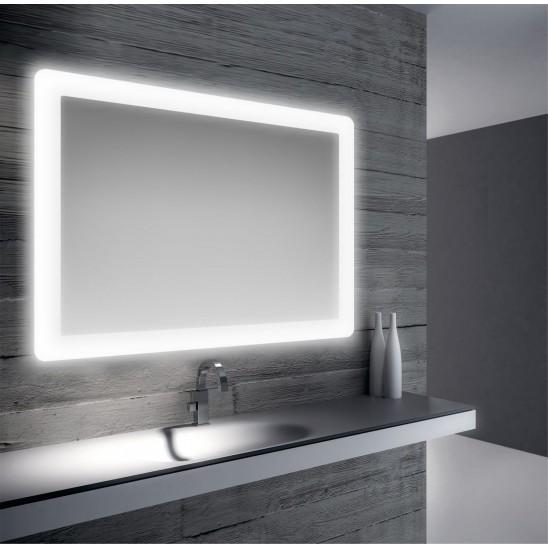 Specchio da bagno retroilluminato a led 90x75 | San Marco