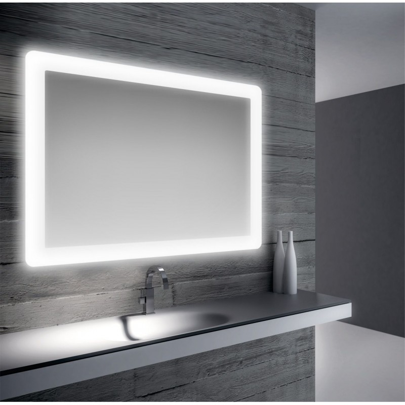 Specchio da bagno retroilluimnato a led 100x70 cm san marco for Marco 100x70
