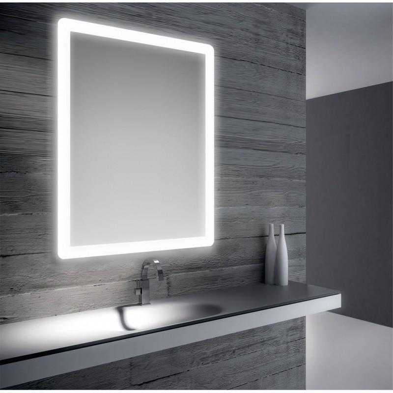 Specchio bagno retroilluimnato led 80x60 cm san marco - Luce led specchio bagno ...