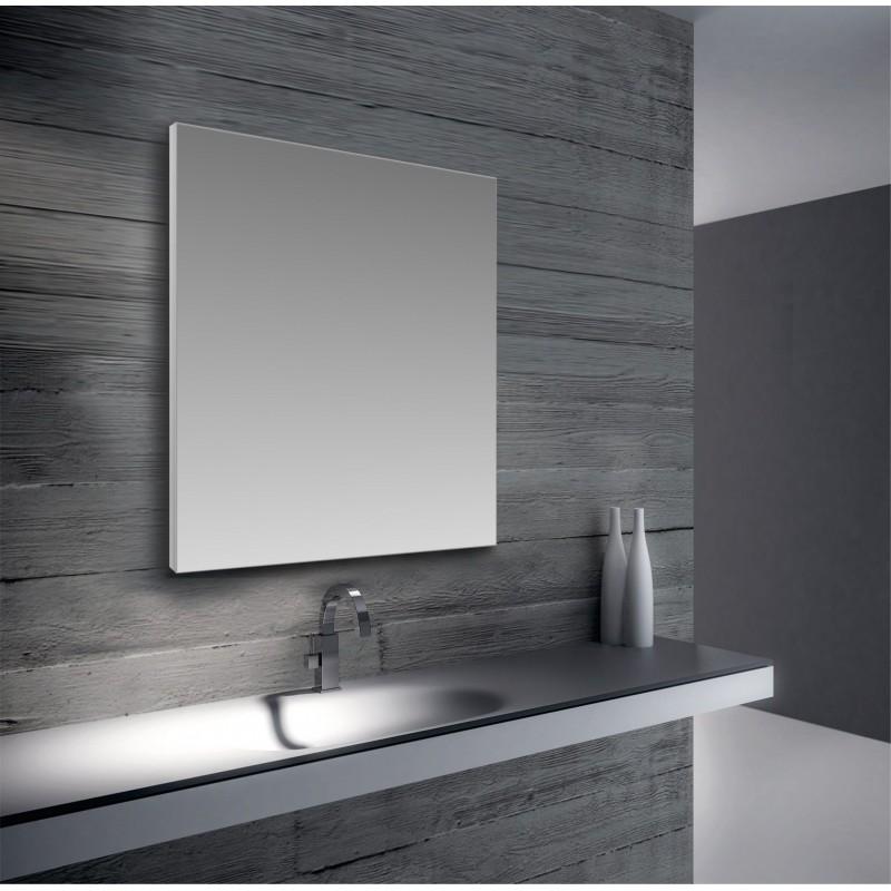 Specchio da bagno telaio perimetrale alluminio satinato for Specchio bagno profilo alluminio