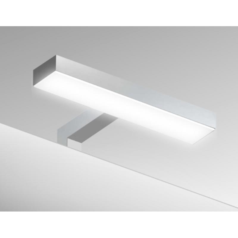 Specchio da bagno telaio alluminio satinato da 85x72 cm for Specchio bagno profilo alluminio