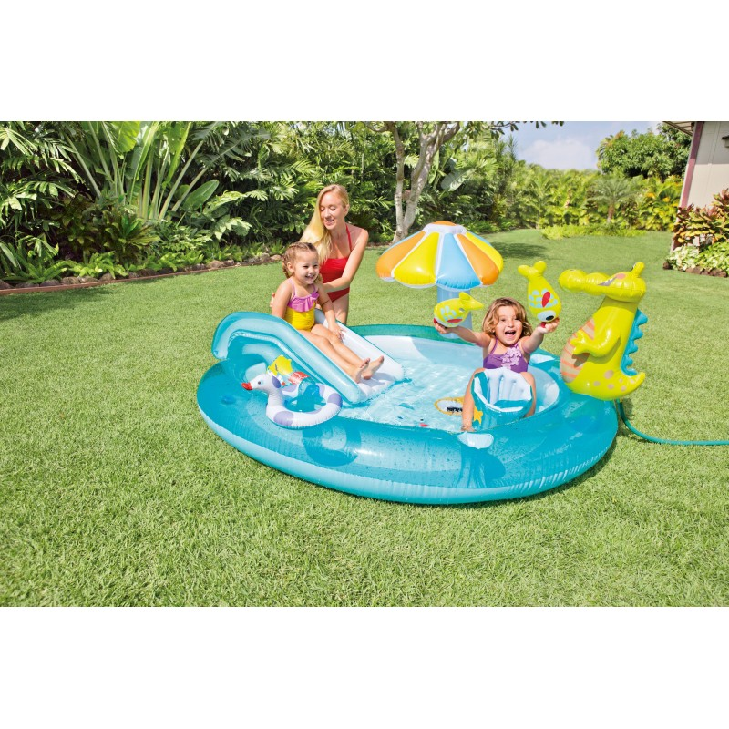 Piscina gonfiabile intex play center con scivolo san marco - Intex piscina gonfiabile ...