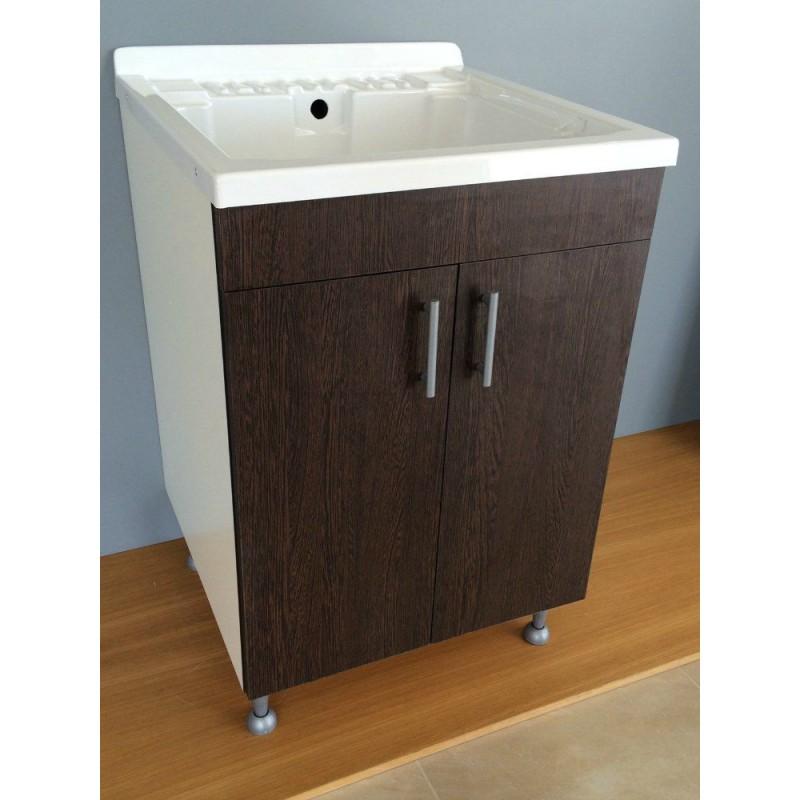 Lavatoio per lavanderia in legno con finiture nobilitate for Lavatoio per lavanderia