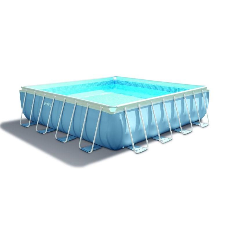 Piscina fuori terra intex square pools 488 x 488 san marco - Piscina fuori terra quadrata ...