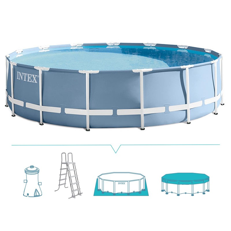 Piscina rotonda intex prism 457x107 cm san marco for Piscina intex rotonda