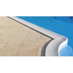 Bordo perimetrale bianco per piscina rettangolare