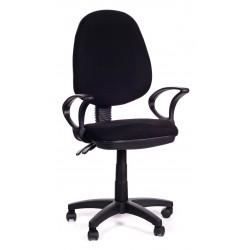 Sedia per ufficio direzionale in tessuto nero Black Sofa