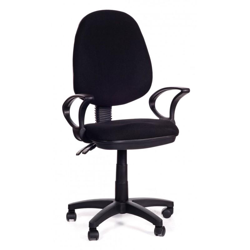 Sedia per ufficio direzionale in tessuto nero black sofa for Sedia ufficio direzionale