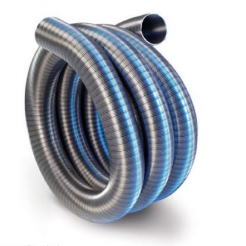 Tubo flessibile per canne fumarie in acciao inox san marco - Canne fumarie per stufe a pellet prezzi ...