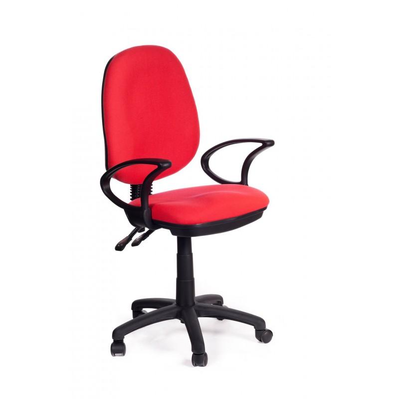 Sedia per ufficio direzionale in tessuto rosso red sofa for Sedie economiche per ufficio