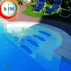 Piscina interrata 700x400x150 cm con scala romana